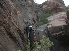 Rock Climbing Photo: Jose following on pitch 4...I believe the rain was...