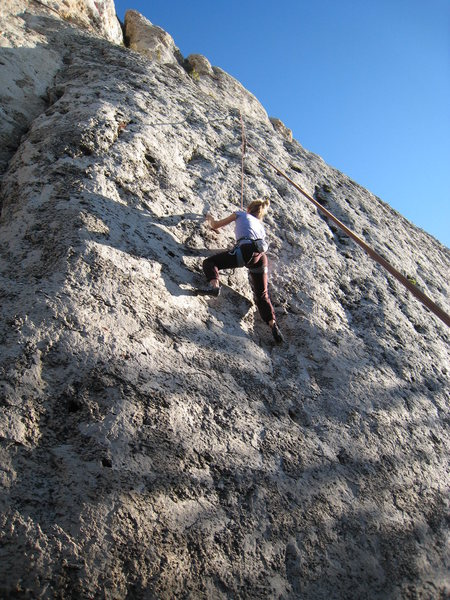 Rock Climbing Photo: Sacajawea, above the difficulties.