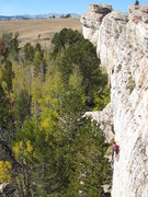 Rock Climbing Photo: The fun upper headwall of Hip Boot Romance.