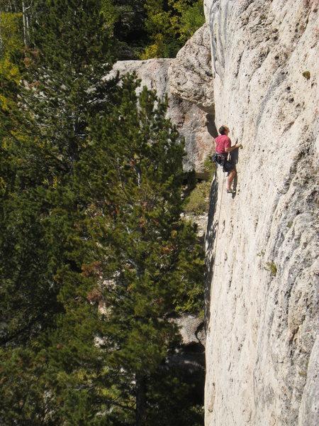 Rock Climbing Photo: The fun steep slab.