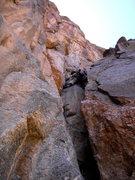 Rock Climbing Photo: Hanging Chad starts pitch 1.