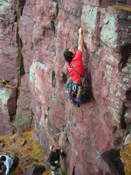 Rock Climbing Photo: Dmitriy styl'n the bottom half of Second Coming on...