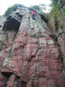 Rock Climbing Photo: And here Dmitriy exits the upper half of Second Co...