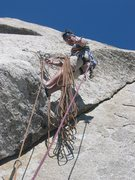 Rock Climbing Photo: Third pitch anchor - No Country for Old Men.