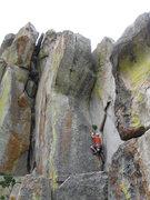 Rock Climbing Photo: Upper corner of Tide Country.  Interceptor on the ...