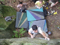 Rock Climbing Photo: Remo setting up to throw