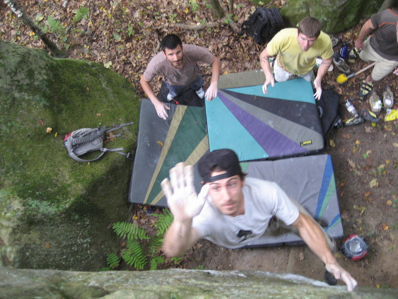 Rock Climbing Photo: High five!