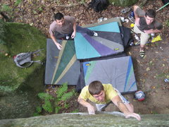 Rock Climbing Photo: Dobbe looking strong despite the rain