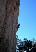 Rock Climbing Photo: Nearing the final singe-in-the-tail move.  Photo b...