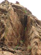 "Rock Climbing Photo: P5 detail, the ""Loft""."