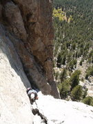 Rock Climbing Photo: Andy Maguire following P2.