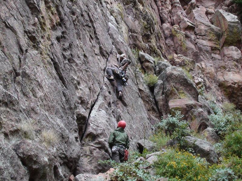 Rock Climbing Photo: Cale and Phill on Blind Faith.