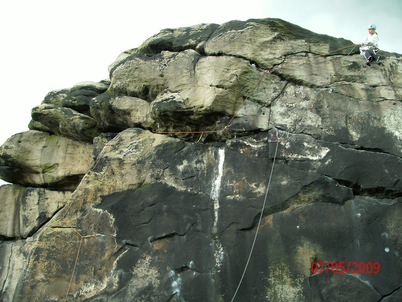 Rock Climbing Photo: An overly protected lead on bird lime traverse(i b...
