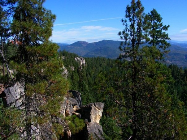 Rock Climbing Photo: The crags of Rattlesnake poking up out of the surr...