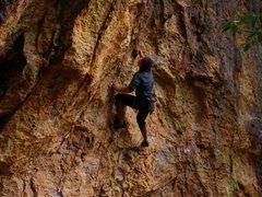 Rock Climbing Photo: Chainsaw Psycho Dork at Rattlesnake