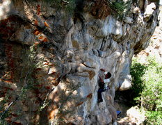 Rock Climbing Photo: Tim Stinson on Crackle.  You can see Pop in the ba...