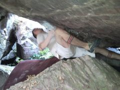 Rock Climbing Photo: First move is not that bad but the next one is to ...