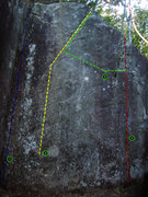 Rock Climbing Photo: 1- Warm up crack    2-Direct start Prject to Crank...
