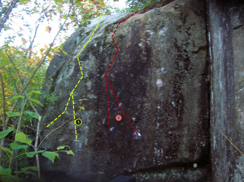 Rock Climbing Photo: 1- The Blue Jaguar 2- Project
