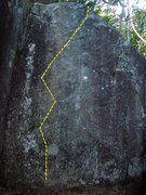 Rock Climbing Photo: Direct start project to Craning the Crack Pipe Bet...