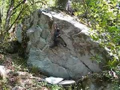 Rock Climbing Photo: Past the Crux and keeping a cool head to topout th...