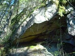 Rock Climbing Photo: Finger crack in roof and lip traverse both are pro...