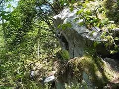 Rock Climbing Photo: The slightly overhanging Cereal Boulder.
