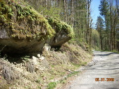 Rock Climbing Photo: Walk about 50 meters past these boulders and then ...