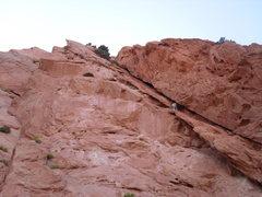 Rock Climbing Photo: Brad Seconding Never Again