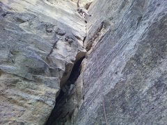 Rock Climbing Photo: The Cave Route Topo