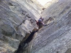 Rock Climbing Photo: Finally, a place to place..... a #4 should do the ...