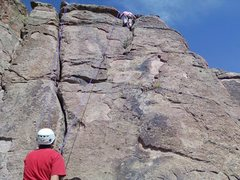 Rock Climbing Photo: The Knob is in the arete on the right side of this...