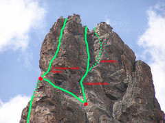 Rock Climbing Photo: Two variations for finishing the South Ridge. Ivan...
