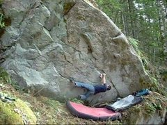 Rock Climbing Photo: Jonah working the super hard low variation to Zodi...