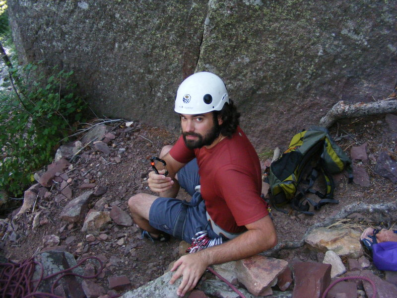 Rock Climbing Photo: Fellow MP user with Biner