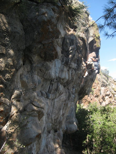 Rock Climbing Photo: While flashing this route, JJ literally 'popped'. ...