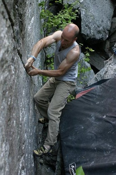 Rock Climbing Photo: In the middle of the business.