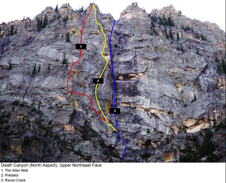 more photos can be found at: http://straightdopestraightrope.blogspot.com/2009/09/new-route-in-death-canyon.html