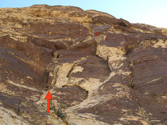 Rock Climbing Photo: Pitch 9 climbs twin cracks and then heads rightwar...
