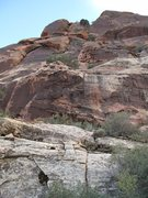 Rock Climbing Photo: Above pitch 10, follow broken rock for a couple of...