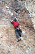 Rock Climbing Photo: Ian on the hard start of It'll Never Fly