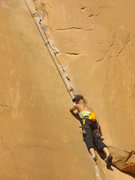 Rock Climbing Photo: Lisa Gillest ripping it up on a HOT day at Wall St...