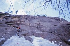 Rock Climbing Photo: Doug Fosdick during an unsuccessful winter attempt...