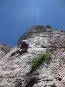 Rock Climbing Photo: Climbing at Wild Iris in Wyoming.  I think this is...