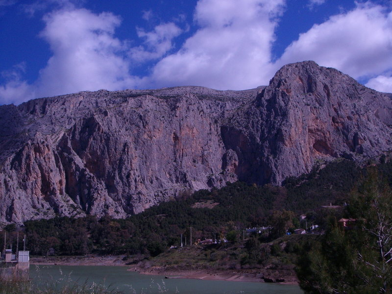 Rock Climbing Photo: The Frontales, a small portion of El Chorro.