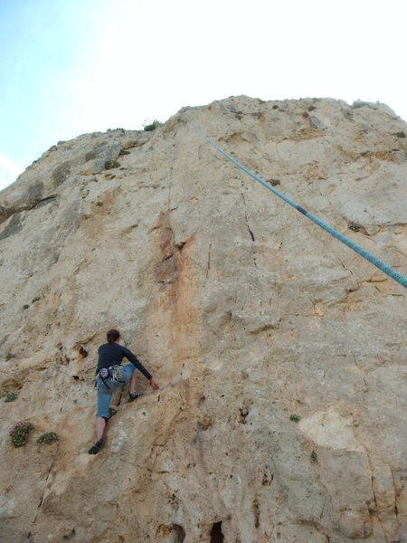 Rock Climbing Photo: Patranas, 6a.