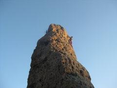 Rock Climbing Photo: Balanced Rock at Echo. 5.9 sketchy bolts and loose...