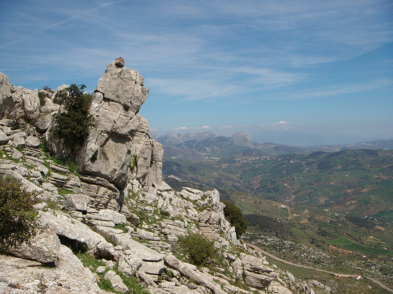 Looking east from the unique area of Torcal de Antequera.