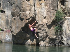 Rock Climbing Photo: Deep Water Soloing on the Truckee River