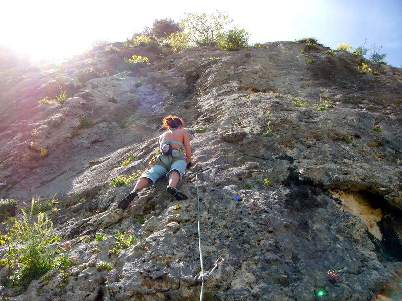 Rock Climbing Photo: Tristan, 6a. Sector Placas Del Cortijo, Grazalema....